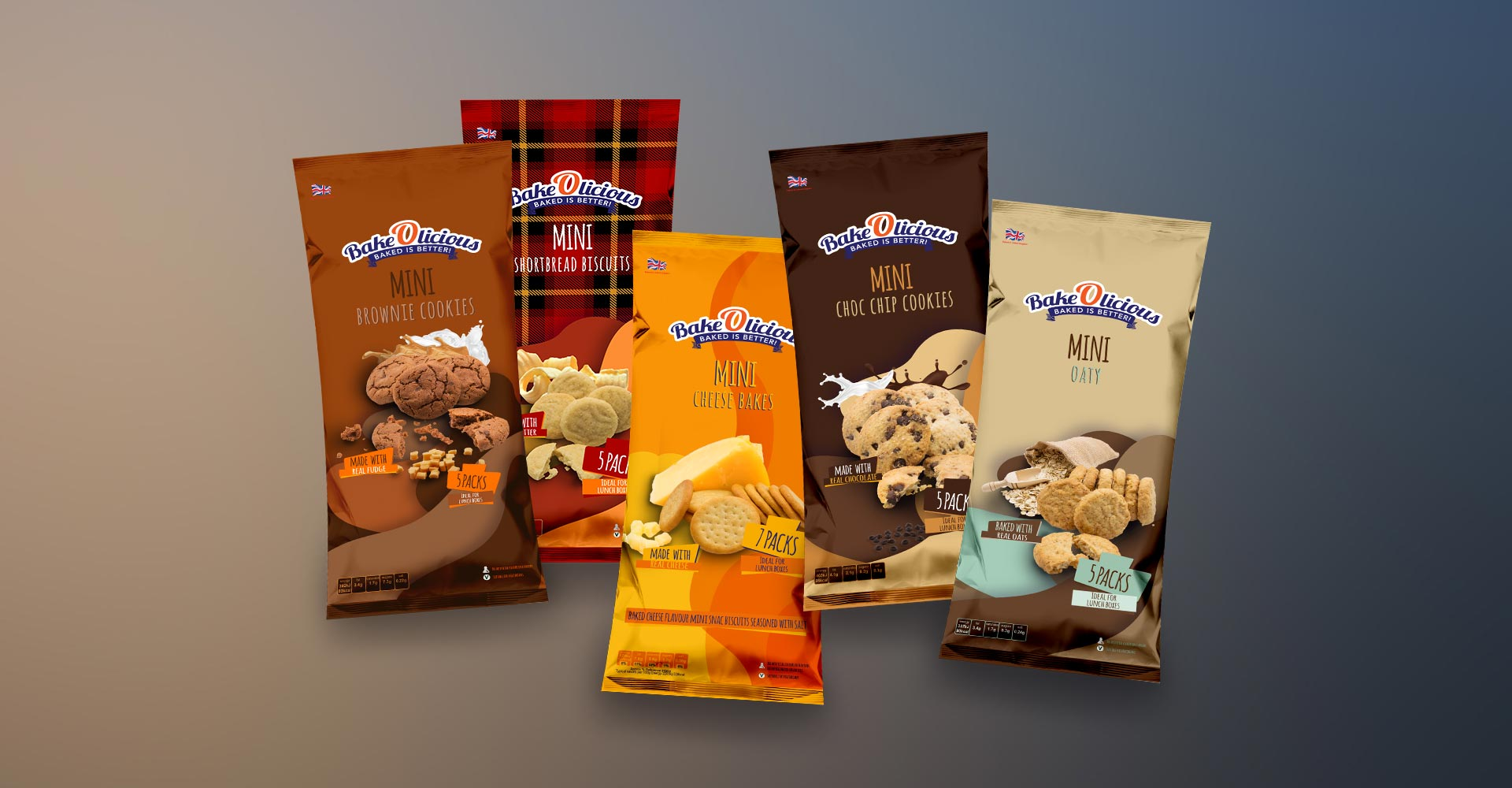 AM Marketing BakeOlicious Packaging Design